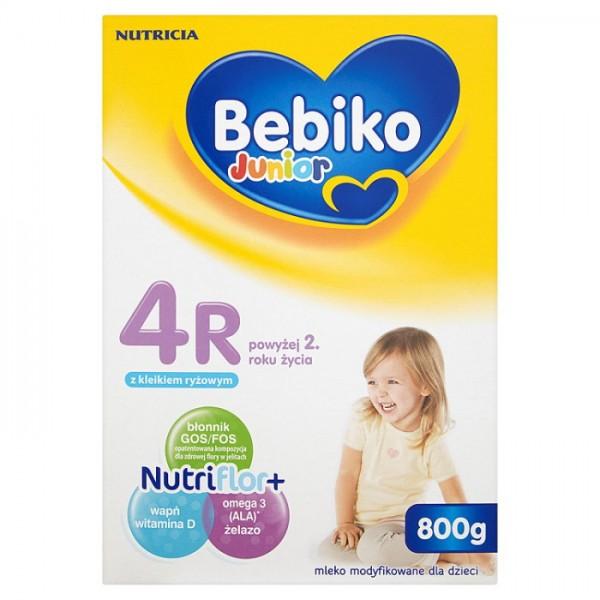 BEBIKO Junior 4R z NutriFlor+ mleko modyfikowane dla dzieci powyżej 2 roku życia z 800g