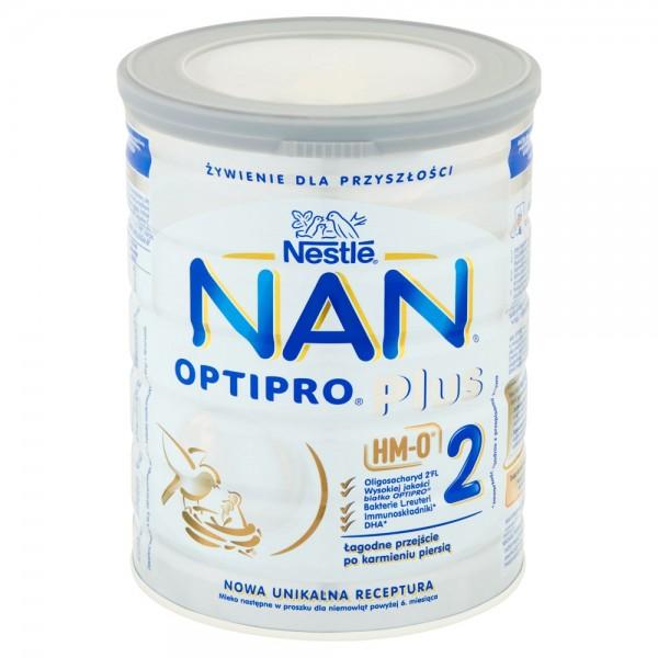 NAN Optipro Plus 2 800g mleko modyfikowane po 6 miesiącu bez oleju palmowego. Cena i opinie
