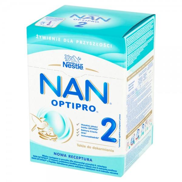 NAN Optipro 2 mleko modyfikowane po 6 miesiącu 800g (2x400g) Karton
