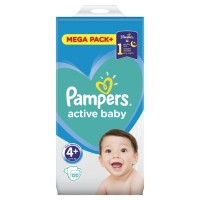 Pampers Active Baby 4+ 129 sztuk