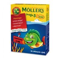 Mollers Omega-3 Rybki 36szt. smak owocowy