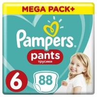 PAMPERS Pants 6 EXTRA LARGE 88szt +16kg MEGA BOX