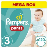 PAMPERS Pants 3 MIDI 120 szt pieluchomajtki 6-11 kg MEGA BOX
